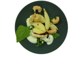 Æblesalat med jomfruhummerhaler - Kopi