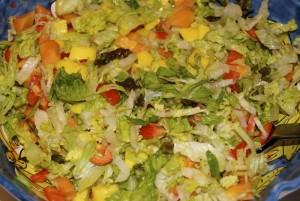 Mango og chilisalat
